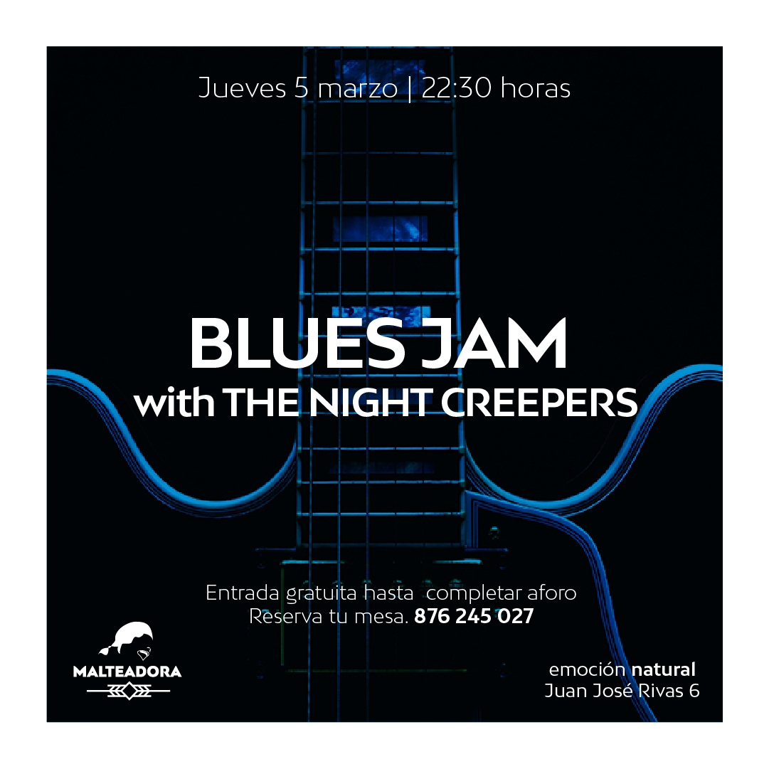 BLUES JAM with THE NIGHT CREEPERS